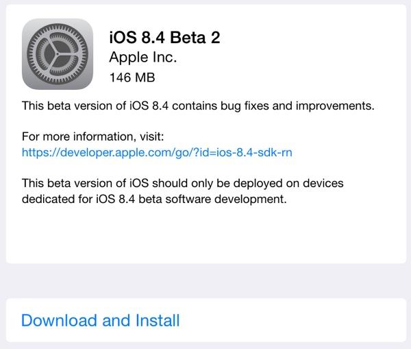 iOS8.4へそろそろアップデートか?ベータ版配布開始!