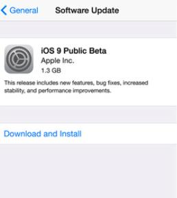 iOS9-β