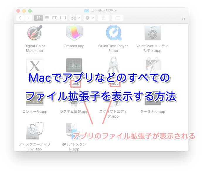 Macでアプリやスクリーンショットのファイル拡張子を表示する方法