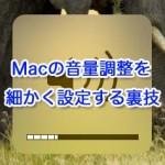 Macの音量調整を細かく設定する裏技