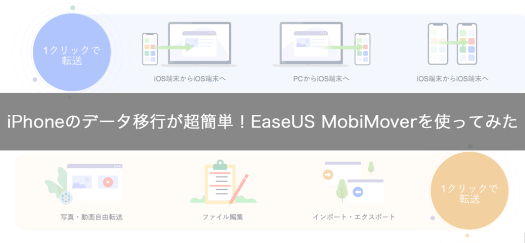 iPhoneのデータ移行が超簡単!EaseUS MobiMoverを使ってみた
